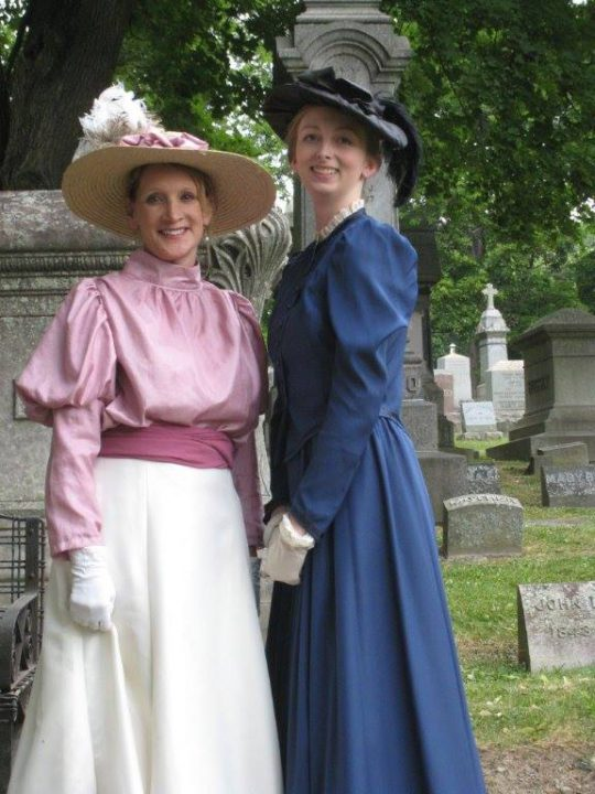 Graveside Chats women, Historic St. Agnes Cemetery