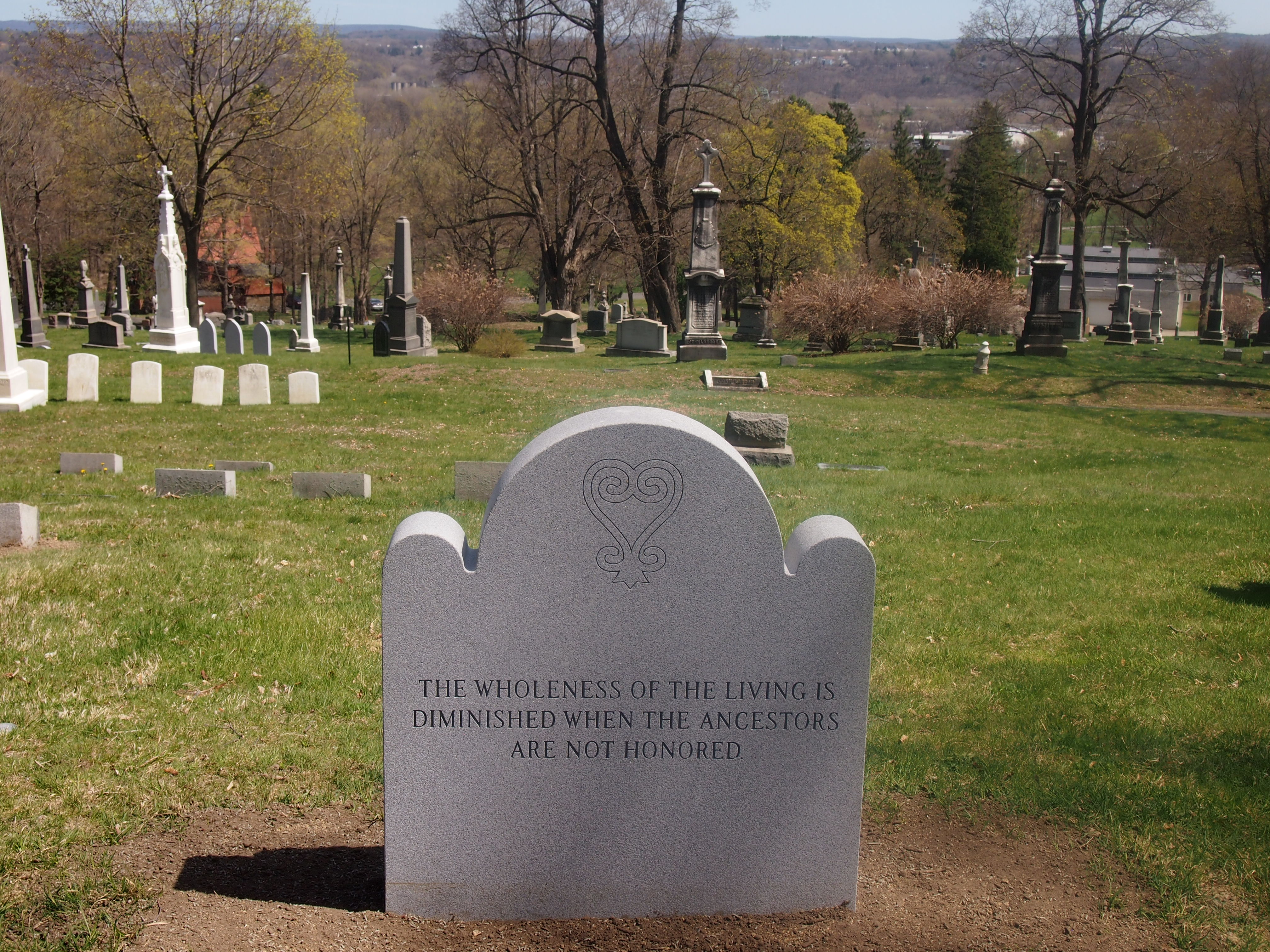 African Burial Ground at St. Agnes Cemetery. Schuyler Flatts slave burial marker