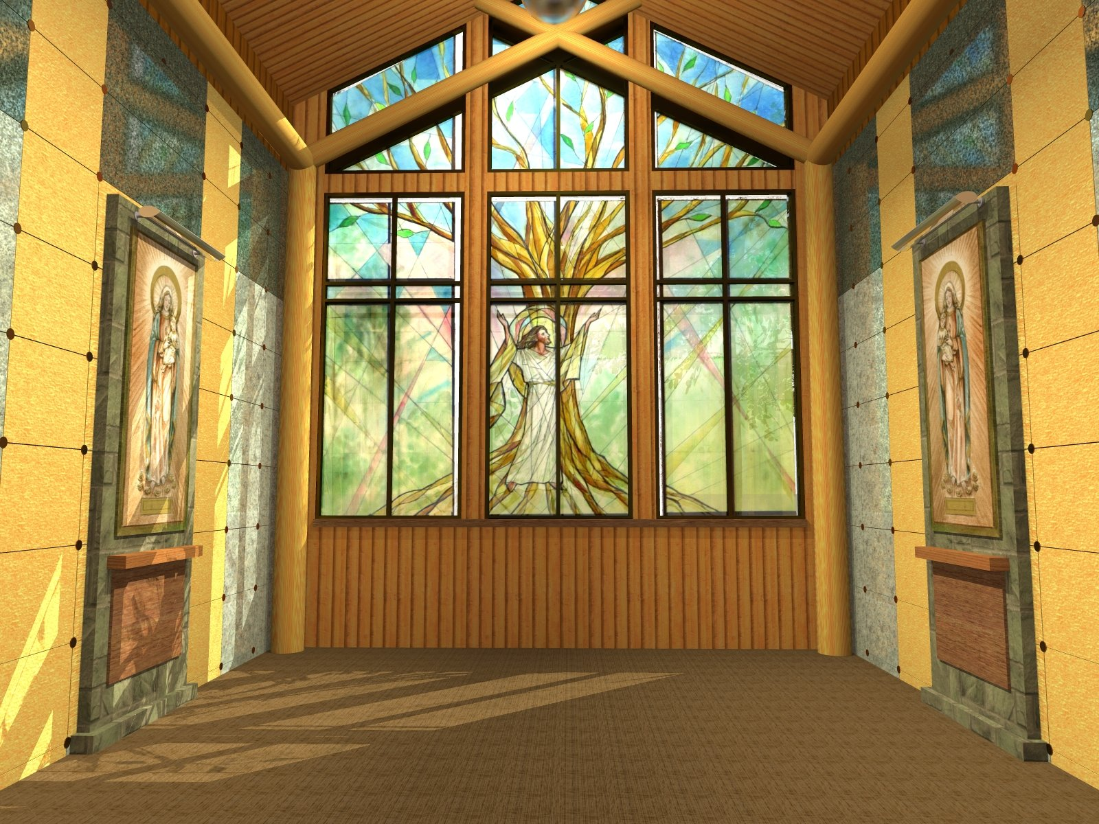 Mary Immaculate, Patroness of America Mausoleum rendering