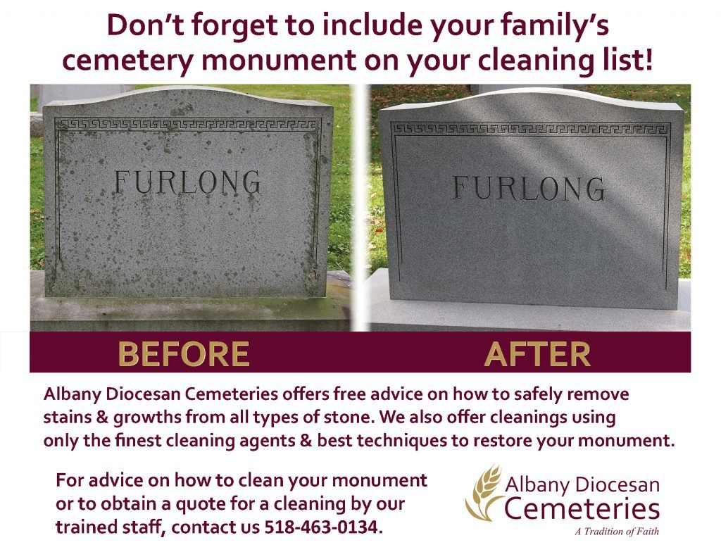 Albany Diocesan Cemeteries monument cleaning
