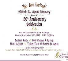 150th Anniversary Historic St. Agnes Cemetery online invitation