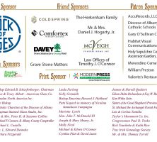 150th Anniversary Historic St. Agnes Cemetery Sponsors as of 8/8/17