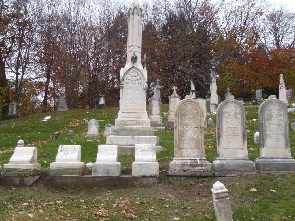 Restored gravestones