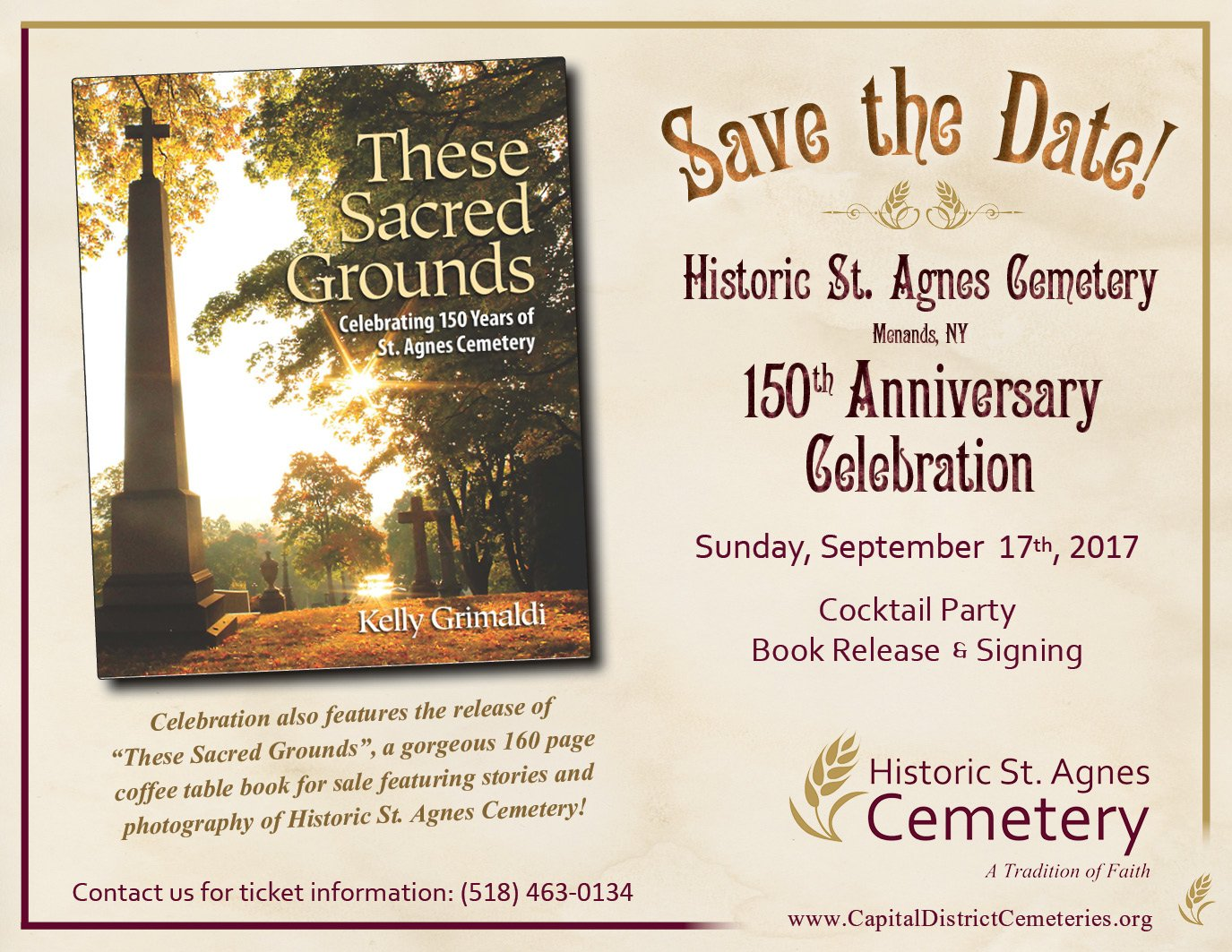 Save the Date for Historic St Agnes 150th Anniversary Celebration