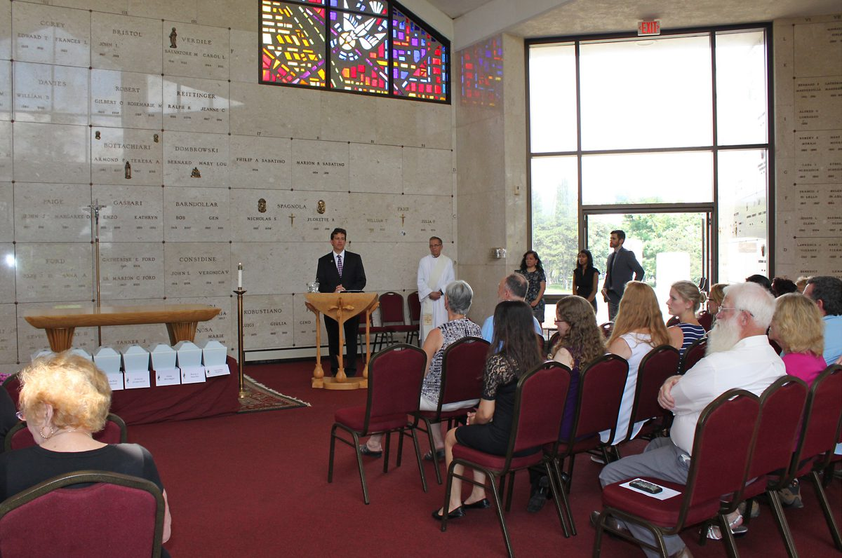Anatomical Gift Program Memorial Service at St. Agnes