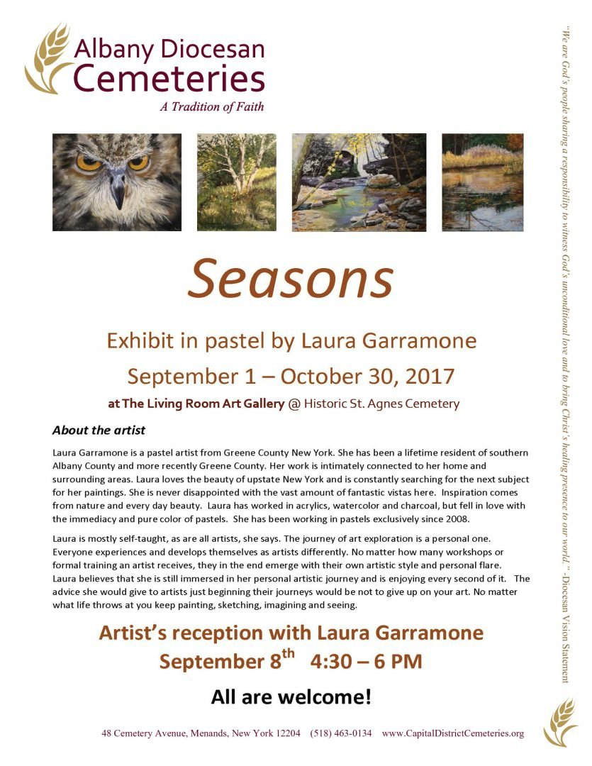 Fall Art Gallery Exhibit Seasons by Laura Garramone