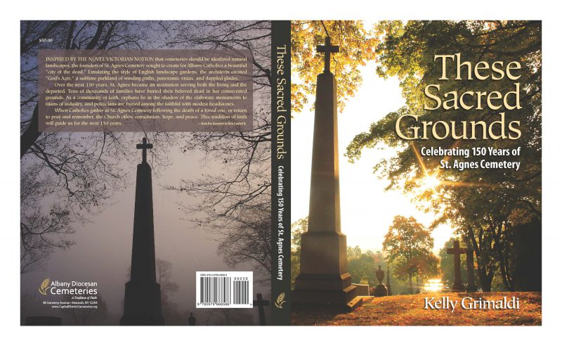 These Sacred Grounds book by Kelly Grimaldi- book case design