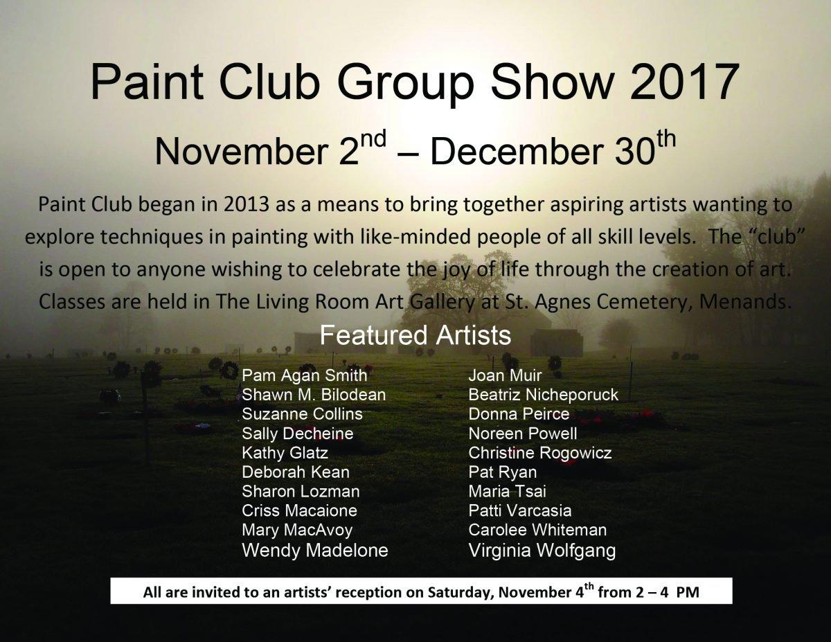 Paint Club Group Art Exhibit 2017 flyer