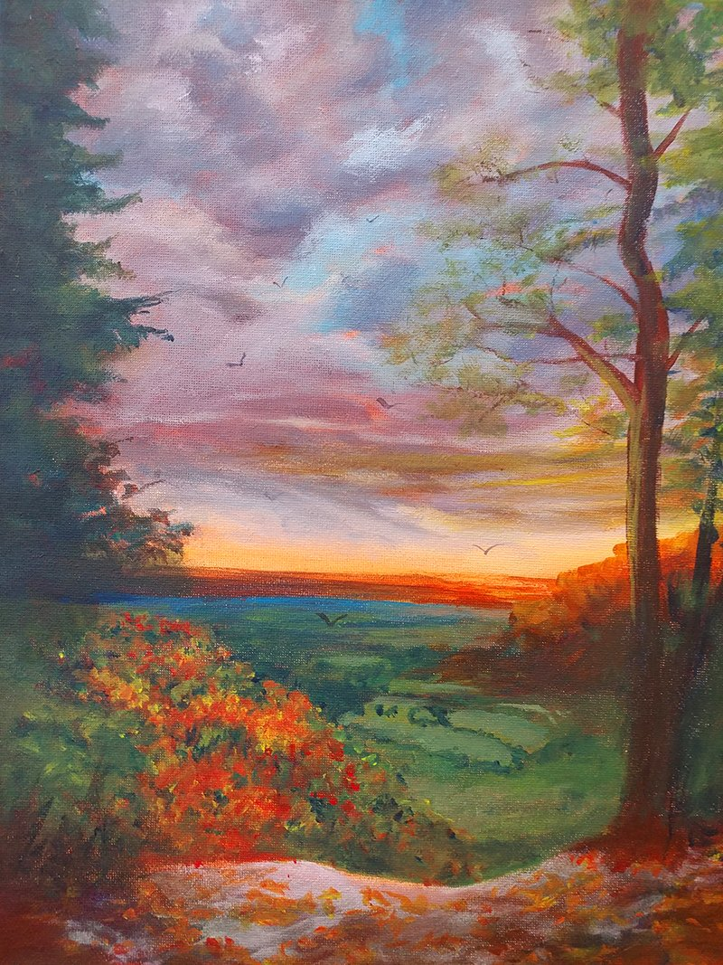 Landscape painting by Noreen Powell