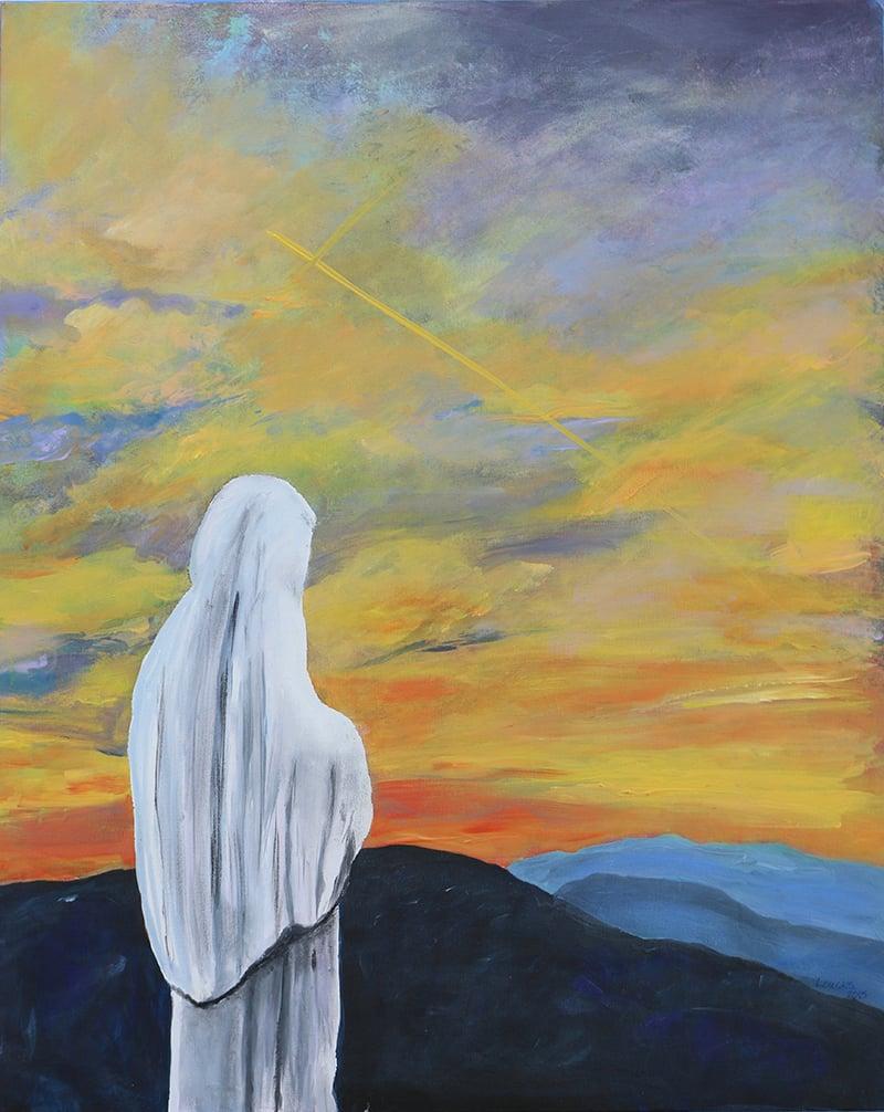 Eva Marie Loucks' painting of Mary