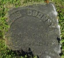 Example of a sunken gravestone