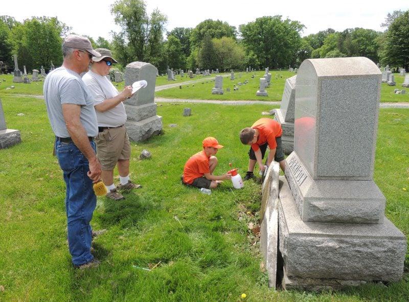 Boy Scout Troop 279 began mapping gravestones Memorial Day weekend, 2018.