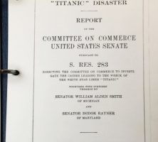 Titanic Disaster Official Report Cover image