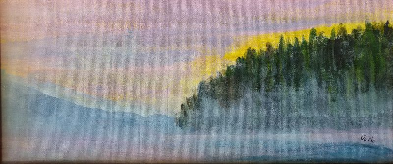 Landscape painting by Jo-Ann Vidulich