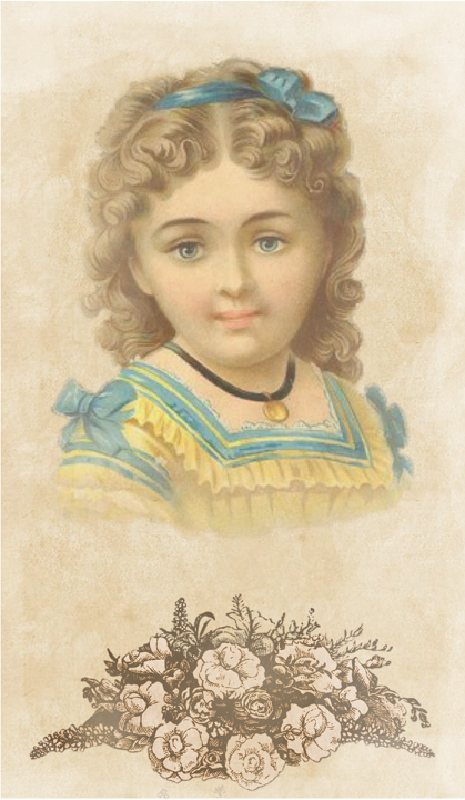 Victorian graphic of a young girl