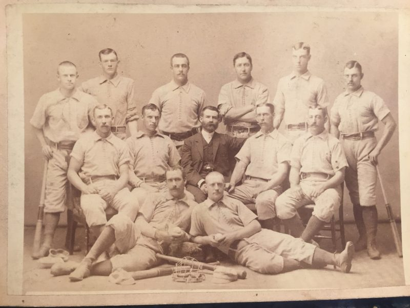 Frank Columbus Buckeyes Pro Team Picture 1883 - 1884