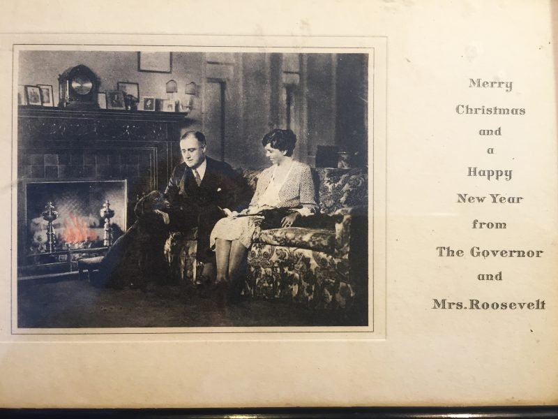 Christmas card from Roosevelts
