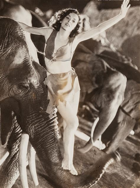 Maureen O'Sullivan's Jane with elephant