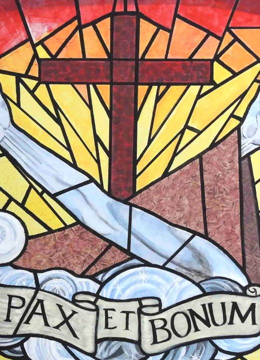 WOPG radio stained glass image