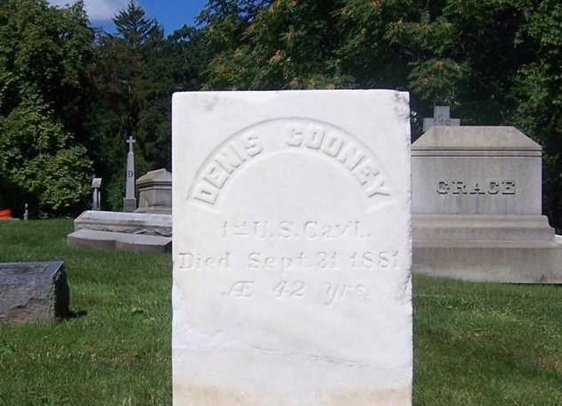 Cooney gravestone after restoration