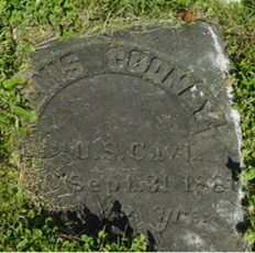 Cooney gravestone before photo