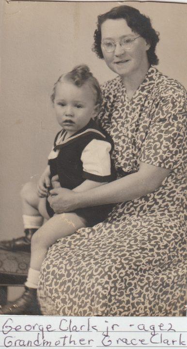 Grace Clark with grandson George Clark, Jr, age 2
