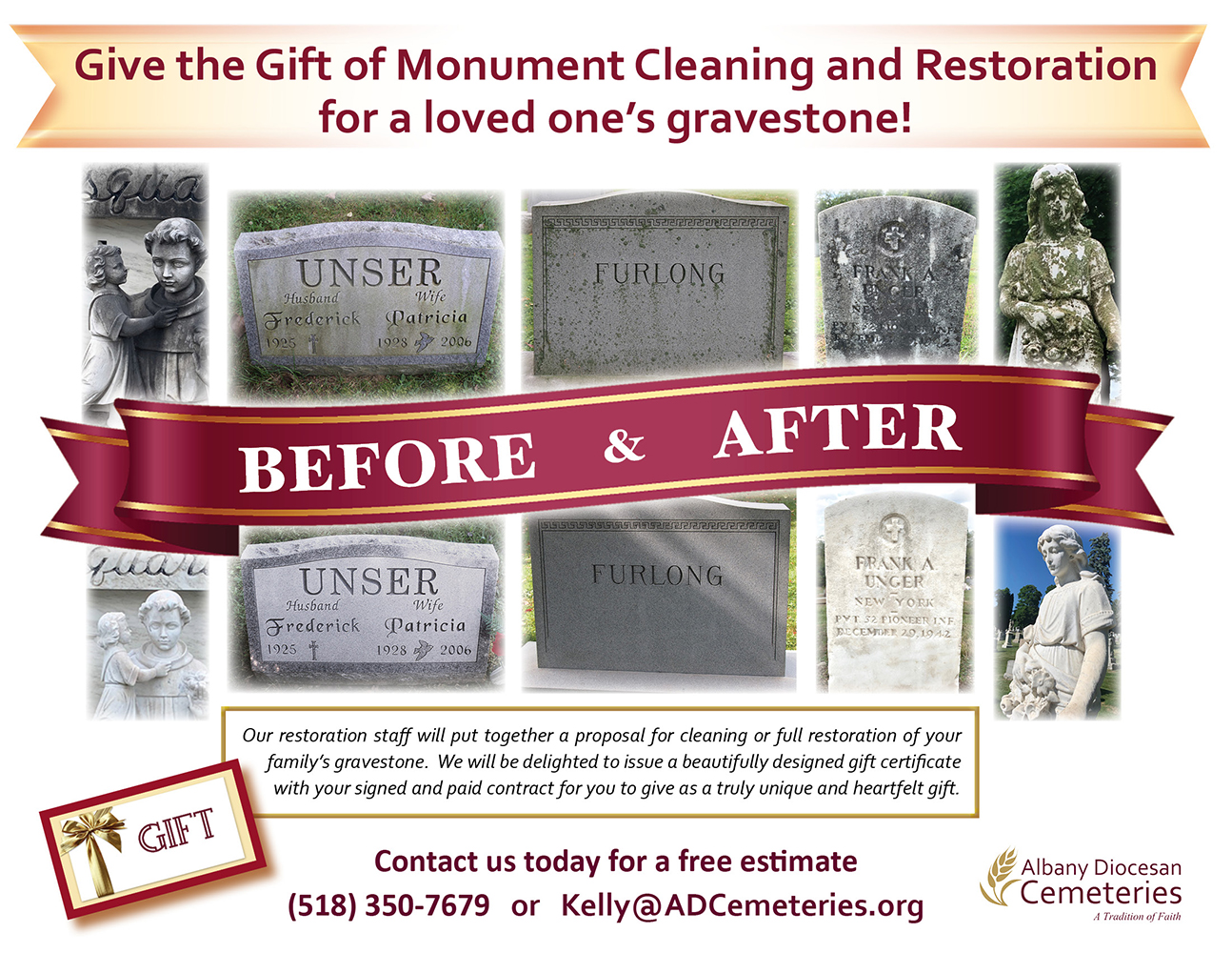 Give the Gift of Monument Cleaning and Restoration