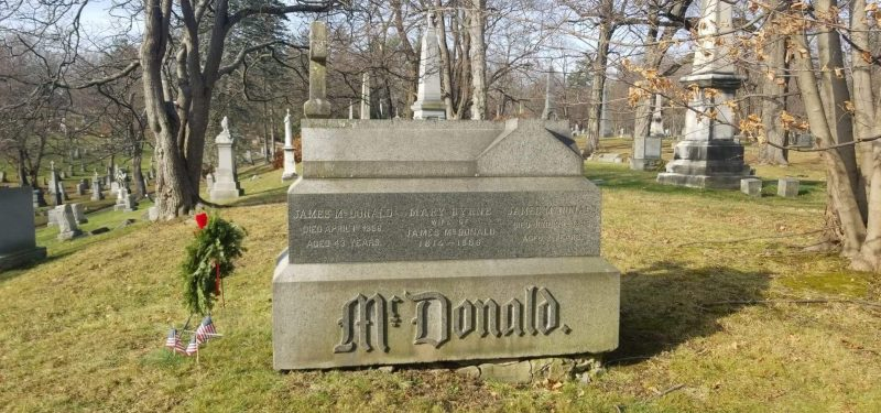 McDonald memorial, St. Agnes Cemetery, Menands, NY