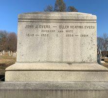 John J. & Ellen Evers back of grave St. Mary's, Troy NY