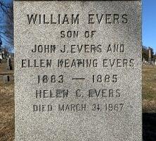 Johnny Evers grave St. Mary's Troy NY