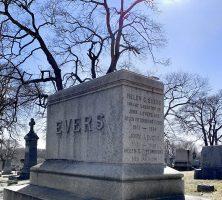 Johnny Evers family gravestone, St. Mary's Cemetery, Troy NY