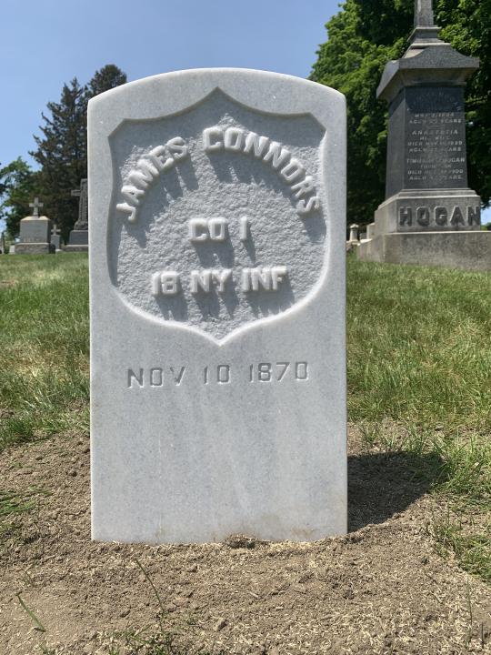Private Connors replacement gravestone
