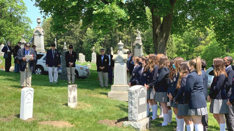 Military Honors Ceremony for Private James Connors