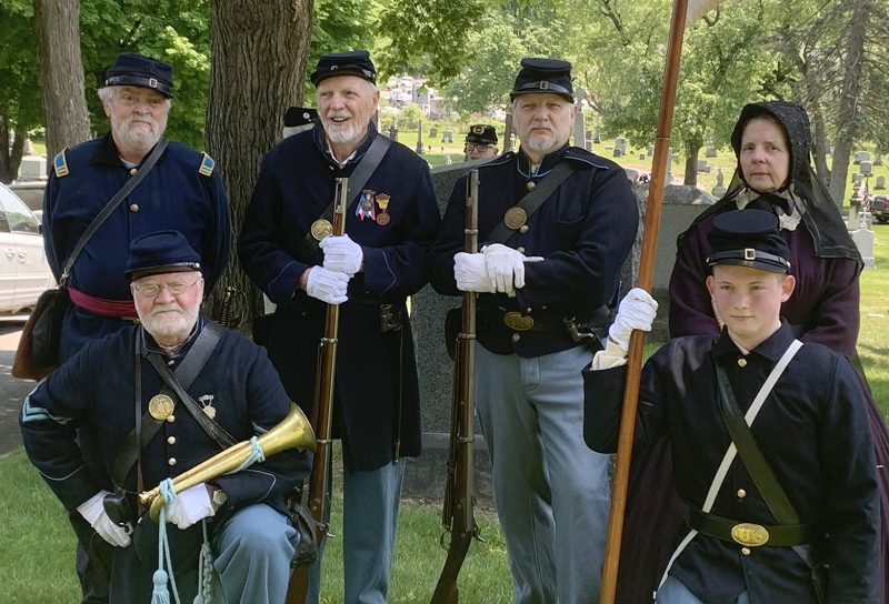 Members of the 125th NY Regent Association, Inc. at Private Connors Military Honors Ceremony