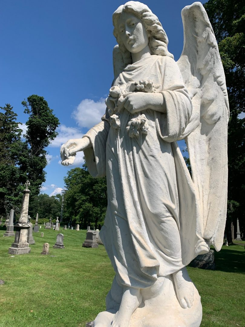 Photo of the Brolley monument angel